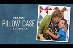 Children's Sewing Projects: Easy Pillowcase with Jenny and Talon, a Sewing p. - Home Decor -DIY - IKEA- Before After Sewing Projects For Kids, Sewing For Kids, Sewing Ideas, Sewing Crafts, Missouri Star Quilt Tutorials, Quilting Tutorials, Star Quilt Patterns, Star Quilts, Jenny Doan Tutorials