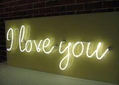 I love you #neonsign