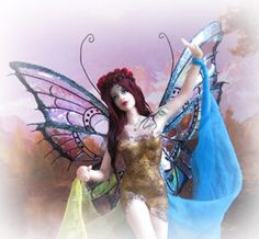 OOAK Art Doll- Gaea  <<<< while the adult learns dollmaking= mentor a youth to learn with