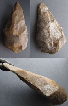 This is a backed handaxe  (15 cm long) from Remi sur Creuse /France,