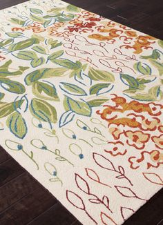 RugStudio presents Addison And Banks Hand Hooked Abr0239 Antique White Hand-Hooked Area Rug  $300