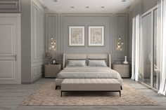 40 Transitional Bedrooms That Beautifully Bridge Modern And Traditional - Modern Interior Design Modern Classic Bedroom, Modern Classic Interior, Classic Living Room, Contemporary Bedroom, Contemporary Kitchens, Modern Living, Modern Luxury Bedroom, Master Bedroom Interior, Transitional Decor