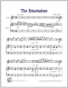 The Entertainer - Free Easy Alto Saxophone Sheet Music Easy Violin Sheet Music, Trombone Sheet Music, Alto Sax Sheet Music, Viola Sheet Music, Saxophone Music, Music Sheets, Violin Songs, E Piano, Piano Music
