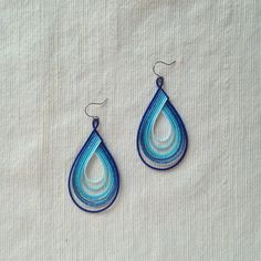 Ornament Crafts, Ornaments, Quilling Work, Diy And Crafts, Crochet Earrings, Clay, Drop Earrings, Handmade, Inspiration