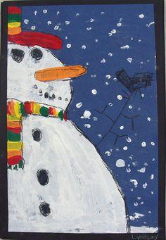 up-close snowmen