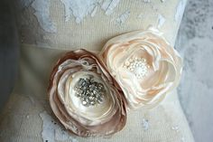Bridal sash Champagne and ivory dress sash by thepaisleymoon, $95.00