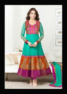 Buy Bollywood Ankle Length Anarkali Suit US$ 88.97 Shop at - bollywood-ankle-length-anarkali.blogspot.co.uk/2014/03/buy-bollywood-ankle-length-anarkali_18.html