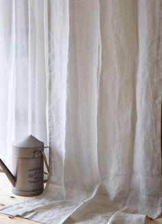 【ラテ・エクリュ】 プレーンカーテン フラット ひだ山なし リネンレースカーテン 薄地レース w140cm×H250cm~ ¥20,800(税込)~ #リネンカーテン
