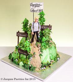 Nature Cake, Mountain Cake, 7 Cake, Forest Cake, Cakes For Men, Fun Events, Grad Parties, Fondant Cakes, Custom Cakes