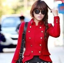 Red Military Style Coat