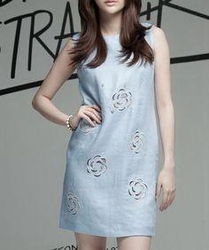 Solid Color Sleeveless Linen Dress-zenb.com SKU aa0357