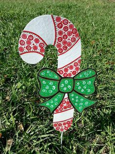 Candy cane yard decoration candy cane yard by FlowerPowerShowers