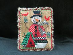 Easel backed snowman designed by Kelly Clark