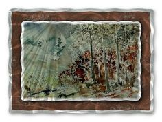 Heavy on the Right Metal Wall Art Hanging