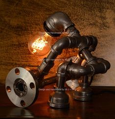 *Approximate dimensions: 10 x 10 x 7 (25cm x 25cm x 18cm) *Style: Antique; Applicable Space: 10-15 Square meters Materials: cast iron, water pipe, iron pipe, plumbing pipe, cast iron pipe *Voltage: 110V - 240V AC and everything in between; Urban Industrial Lamps are hand crafted with #RusticLamp