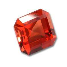 8x8mm Square Octagon Cut Gem Quality Chatham-Created Cultured Orange Padparadscha Sapphire Weighs 2.97-3.63 Ct.