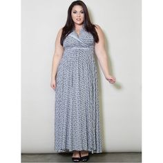 PRE-ORDER - Eternity Convertible Printed Maxi Dress (Black and White Print)