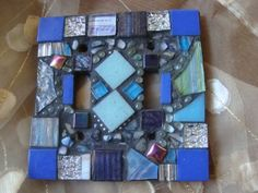 MOSAIC Light Switch Plate Double Shades of by victoriacharlotte, $26.00
