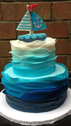 Nautical cake! So cu