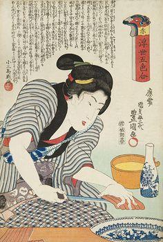 浮世五色合 「赤」 絵 師:豊国三代 刊行年:天保14(1843)年~弘化4(1847)年