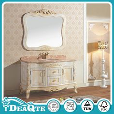2017 French Antique Country Style Bathroom Vanity Cabinet