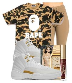 """""""Why Not?"""" by brxxklyn-xo on Polyvore featuring A BATHING APE, NIKE, American Apparel and Too Faced Cosmetics"""