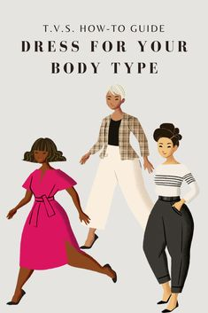 "Simply put, your body type is the outline of your structure. It's important to know how to identify your body silhouette & how to dress to accentuate this. Read this comprehensive guide into the different body types and learn the tips on how to dress for each silhouette on T.V.S. Blog.We offer this type of ongoing comprehensive service as well as outfit planning and personalised shopping with our ""The Main Event"" offering. Be sure to contact us if you would like to know more. Types Of Dresses, Nice Dresses, Dresses For Work, Dress Body Type, Style Me, Cool Style, Perfect Wardrobe, Nice Body, Body Types"