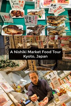 One of the best things to do in Kyoto, Japan is explore Nishiki Market, Kyoto's oldest food market. Click here for a tour of this 400-year-old Kyoto market and some of the Japanese street foods, Japanese sweets, and things you should eat on your trip to Kyoto, Japan.