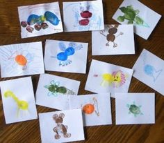 Thumbprint animals