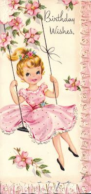 How wonderfully pretty! #vintage #birthday #cards