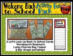 "FREE LESSON - ""Back to School Activity Fun Pack"" - Go to The Best of Teacher Entrepreneurs for this and hundreds of free lessons.  Kindergarten - 4th Grade   #FreeLesson  #BackToSchool  #TeachersPayTeachers   #TPT  http://www.thebestofteacherentrepreneurs.net/2013/08/free-misc-lesson-back-to-school.html"