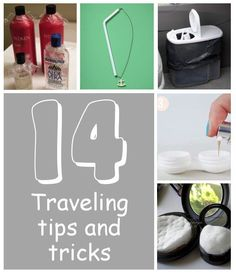 14 Traveling Tips & Tricks ~ SERIOUSLY GENIUS TIPS! E.G. Threading necklace through straw to prevent tangles, Place cotton balls/pads inside your makeup containers to keep them secure so that they don't break, etc. #traveltricks
