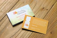 The Oily Orchard business card design personalized for Essential Oil Distributors and Advocates. #business #networking