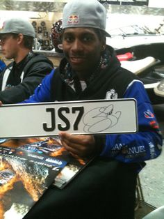 Supercross star James Stewart with a europeanplates.com plate! Sign of course!