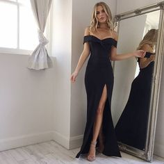 WEBSTA @ showpo - The one black evening gown you need! @executiveponies ✨✨ 'One for the money dress in black' Shop now via the link in our bio ☝️ #showpo