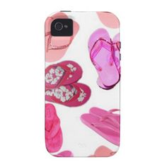 pink flops pastel pattern vibe iPhone 4 covers