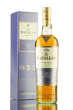 Part of Macallan's Fine Oak range, this 18 year old single malt Scotch whisky from the speyside region has been triple matured in a combination of sherry & bourbon oak casks.