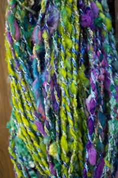 Hey, I found this really awesome Etsy listing at https://www.etsy.com/listing/470611966/sparkle-cabana-handspun-yarn