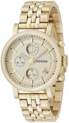 ES2197 - Authorized Fossil watch dealer - LADIES Fossil LADIES, Fossil watch, Fossil watches Luxury Watch Sale, Luxury Watch Brands, Stainless Steel Watch, Stainless Steel Bracelet, Fossil Jewelry, Jewelry Watches, Gold Plated Bracelets, Quartz Watch, Gold Watch
