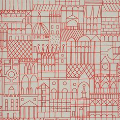 Wallpaper Designed by Alexander Girard for Herman Miller.                                                                                                                                                                                 More