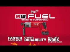 "M18 FUEL™ 1"" SDS Plus Rotary Hammer & HAMMERVAC™ Dedicated Dust Extractor Kit 