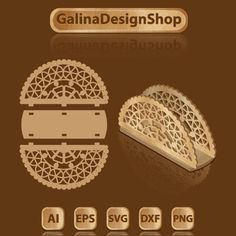 Template for laser cutting the holder of napkins image 1 Routeur Cnc, Cnc Wood, Wood Laser Ideas, Laser Cut Wood, Wood Laser Engraving, Laser Cutter Ideas, Laser Cutter Projects, Cnc Cutting Design, Laser Cutting