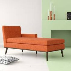 Orange Couch, Lounge, Upholstery Foam, Modern Rustic Interiors, Reading Nook, Seat Cushions, Mid-century Modern, Love Seat, Furniture
