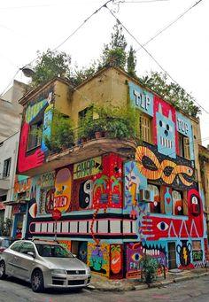 Street art in Psyri Graffiti / street art , Urban art .. lets just call it ART.. https://www.etsy.com/shop/urbanNYCdesigns?ref=hdr_shop_menu