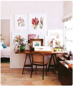 I want to put flower drawings all over the walls.