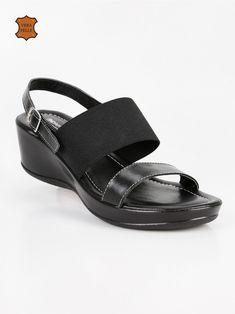 a91d26f09f126b Sandali neri in pelle. ANDREA PIERAGO - Sandali neri in pelle - Mec Shopping.  Maria Incoronata Russo · scarpe · DAME ROSE - Sandali con zeppa bassa e ...