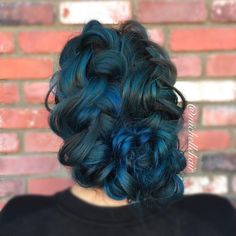 Braided updo created by chelsea at jamies hair design in perfectress hair extensions on instagram blue double dutch braided updo modernsalon pmusecretfo Images