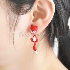 TOMTOSH Fox Stud Earrings 3 colors Animal Ear Jewelry Earrings For Women Fashion Statement Jewelry Jewelry Roll, Ear Jewelry, Boho Jewelry, Cheap Earrings, Women's Earrings, Boho Shoes, Animal Ears, Fox Animal, Cute Fox