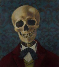 Skeleton Portrait Blue - CuriousPortraits @ Etsy