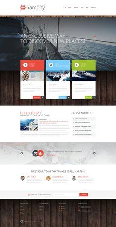 Boating WordPress Theme New Screenshots BIG